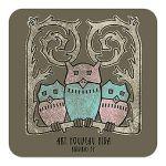 Magnet Art Nouveau. Owls