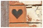 Postcard Stencil. Heart
