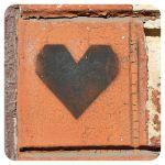 Cup coaster Stencil. Heart