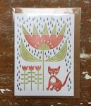 Double card Kitten in the rain