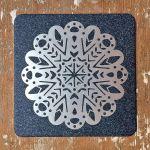 Cup coaster Snowflake, III