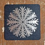 Cup coaster Snowflake, I