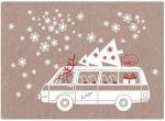 Postcard Christmas microbus