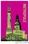 Postcard Riga. Metropolis