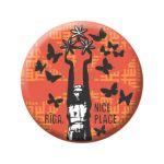 Badge Milda with butterflies
