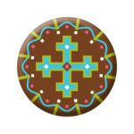 Badge Māra cross