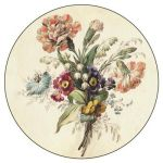 Cup coaster Treasures of Latvia. Flowers. Watercolour. 1831