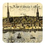 Magnet Treasures of Latvia. Panorama of Riga. 1572