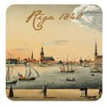 Magnet Treasures of Latvia. Panorama of Riga, 1840