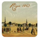 Magnet Treasures of Latvia. Panorama of Riga. 1863