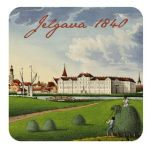 Magnet Treasures of Latvia. Panorama of Jelgava. 1840