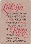 Pastkarte Latvija. Rīga. Nice place