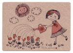 Postcard Small gardener