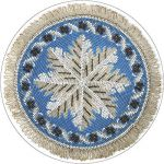 Cup coaster Treasures of Latvia. Beaded pad. Vidzeme. Beggining of 20th c.