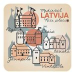 Magnētiņš Viduslaiku Latvija