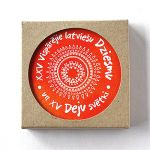 Set of cup coasters Song and Dance festival, red