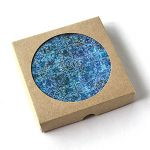 Set six cup coasters Austra, blue version