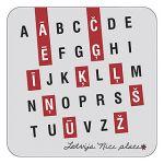 Magnet Latvian alphabet,