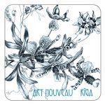 Magnet Art Nouveau motif. Orrises